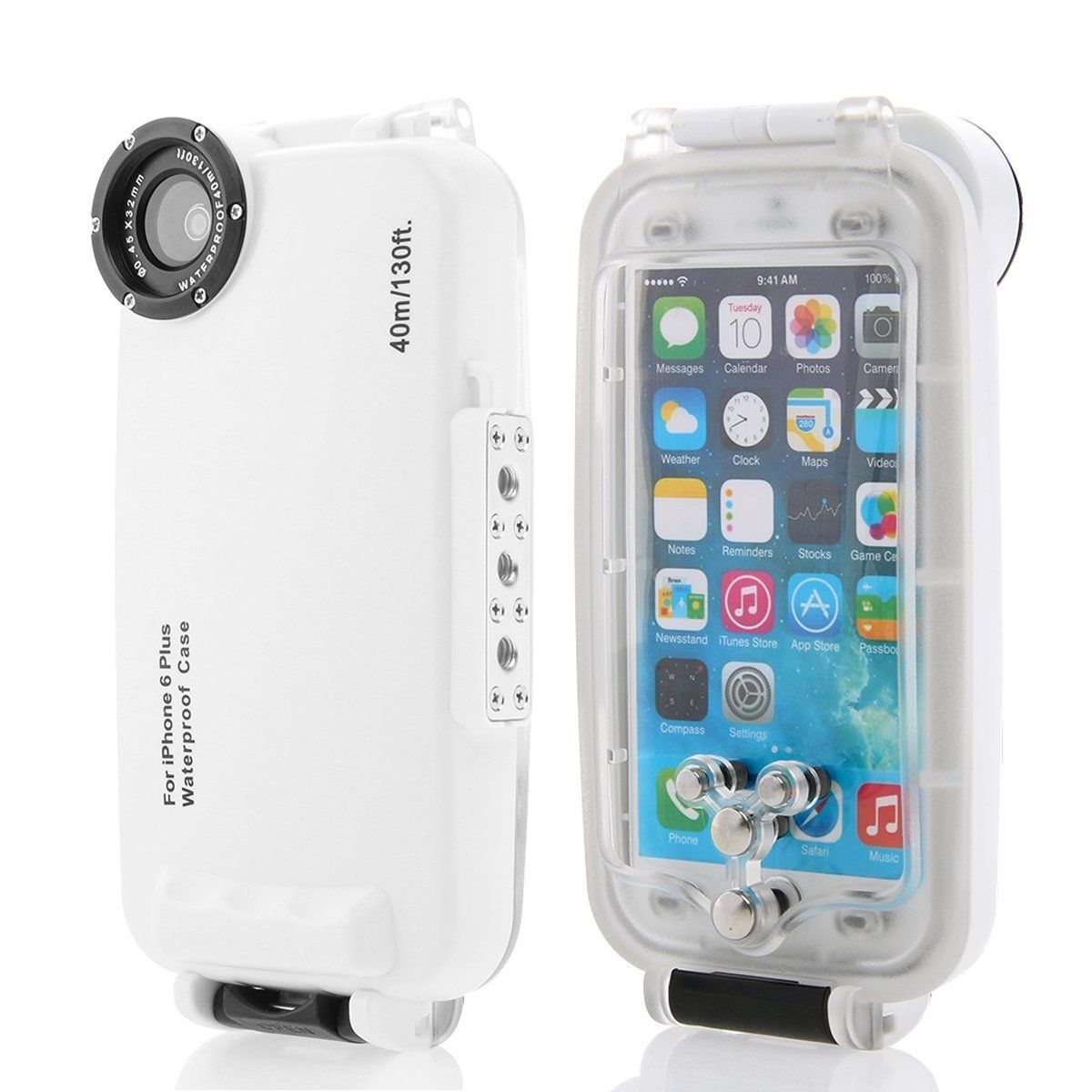 on sale 0cbf9 6a3a2 Waterproof Underwater Housing Diving Phone bag Case for apple iPhone ...